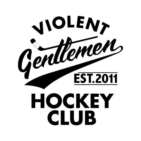 Hockey Club Die Cut Sticker