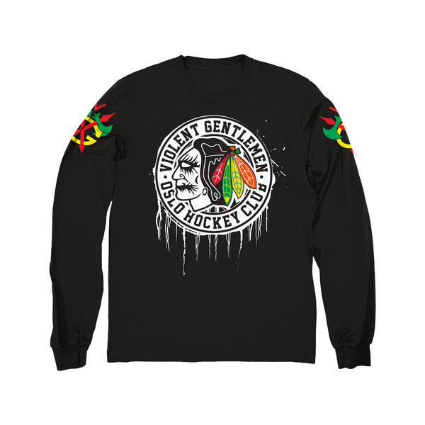 Oslo Hockey Club - Matt Skiba Long Sleeve Tee - Black - Men's T-Shirts - Violent Gentlemen