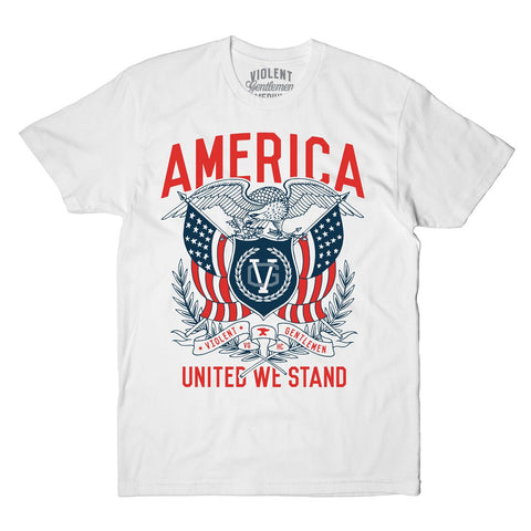 United We Stand Tee - White - Men's T-Shirts - Violent Gentlemen