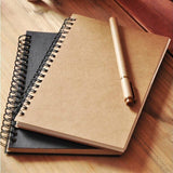 Retro doodle drawing blank paper notebook