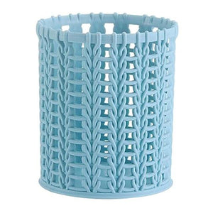 Creative plastic rattan storage box pen holder