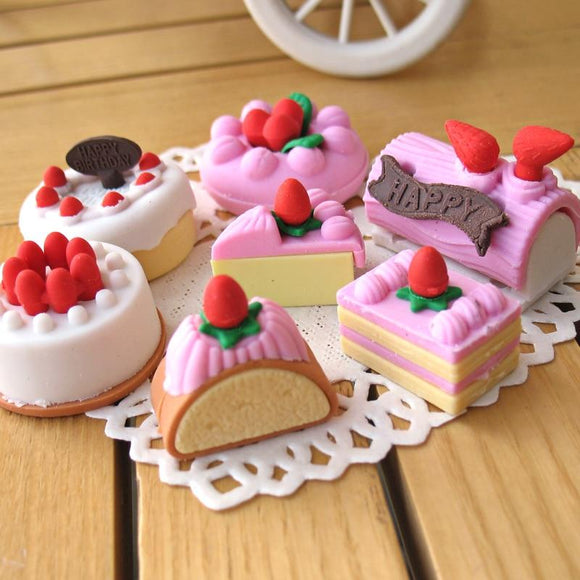 Creative cute cartoon cake-shaped eraser