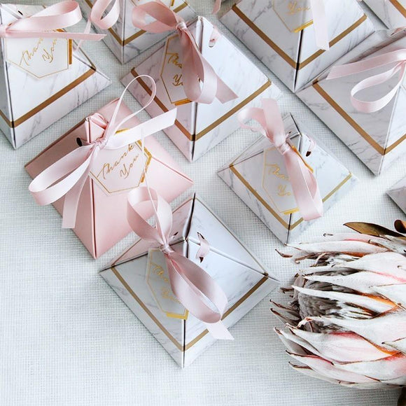 Marbled paper candy box gift box