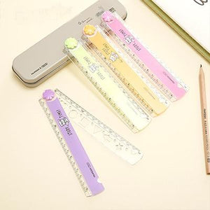 30CM cute color folding multi-function ruler