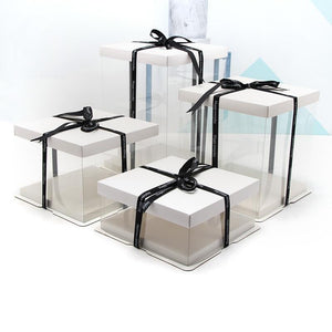 4-16 inch white transparent gift box
