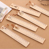 Cute cartoon animal crown pendant wooden ruler