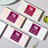 6-piece simple marble sticky note