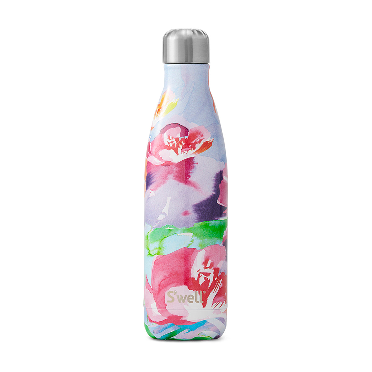 S'Well: Water Colour Floral Collection - 500ml Lilac Posy