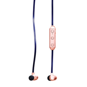 Kakkoii: Chrome Wireless Headphones Copper - Navy Blue