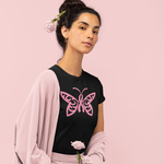 Load image into Gallery viewer, Breast Cancer Awareness Butterfly Tee
