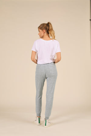 Heather Blue Brushed Hacci Jogger