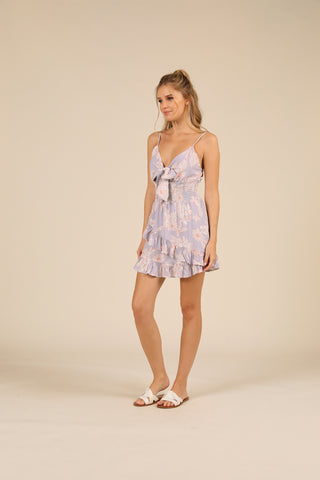 Jasmine Tropical Rayon Ruffle Dress