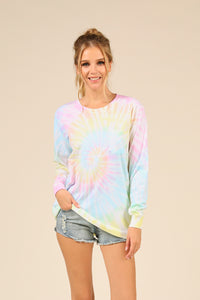 Sunshine Swirl Tie Dye Pocket Tee
