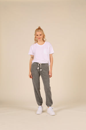 Steel Grey Burnout Scrunch Bottom Sweatpants