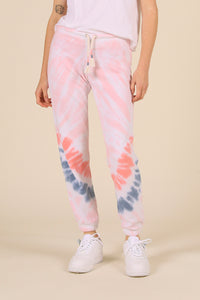 Flamingo Burnout Tie Dye Crop Joggers