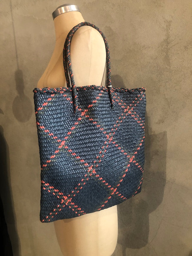 DRAGON_LEATHER  CHECK TOTE