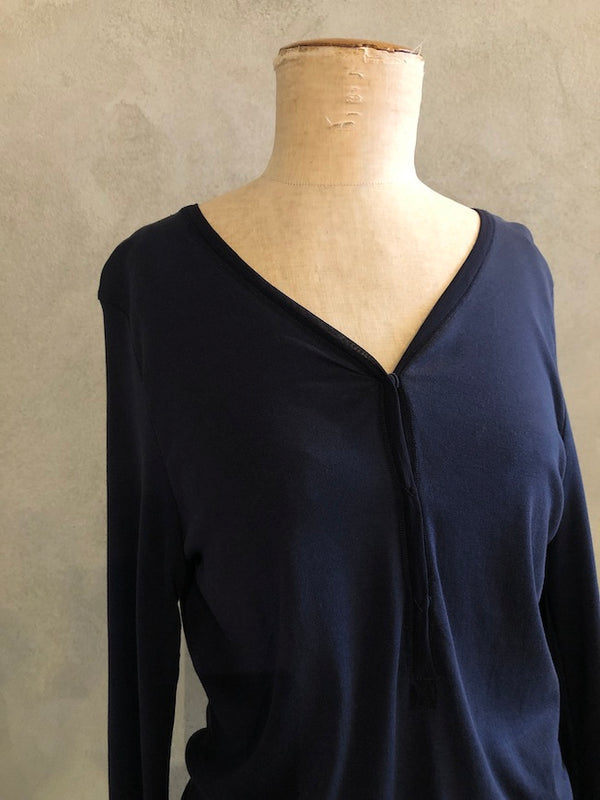KRISTENSEN DU NORD COTTON TOP_O_172_BLUE NOTTE