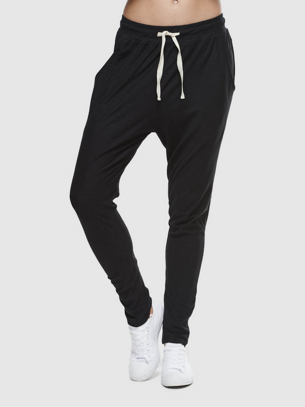 CLOTH & CO SLUB LOUNGE PANT_BLACK