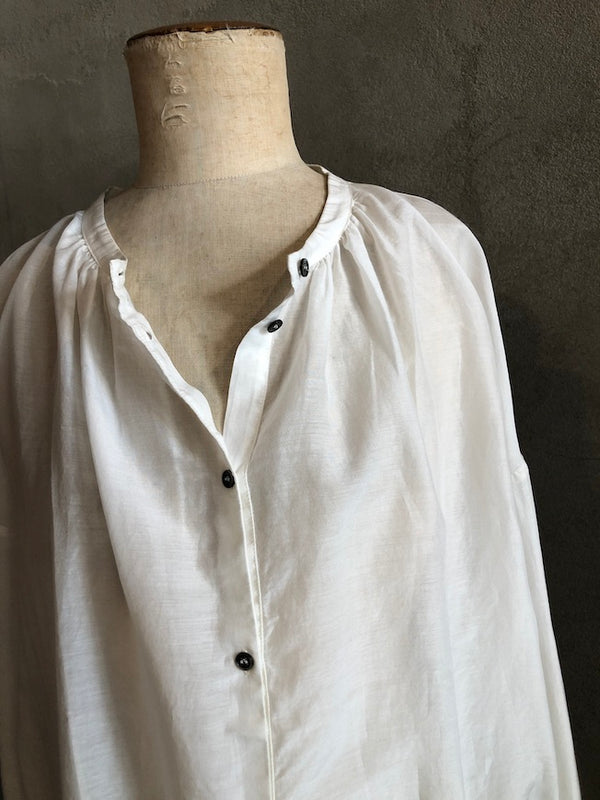 POMANDERE SILK COTTON BLOUSE - IVORY