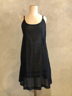 KANDIS COTTON SLIP_MEDIUM LENGTH_BLACK