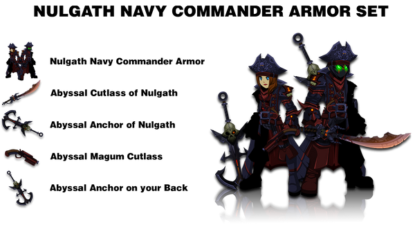 Nulgath Navy Commander Armor Set