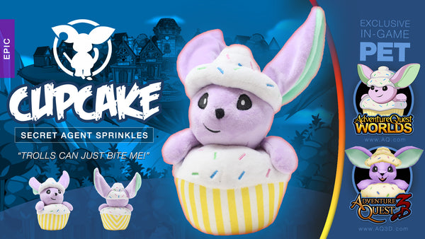 Cupcake Secret Agent Sprinkles Moglin Plush