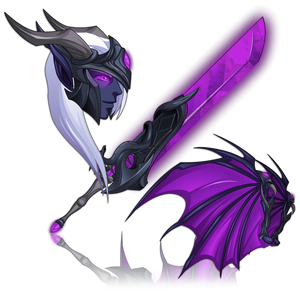 Load image into Gallery viewer, DragonFable - Dragonlord Vath's Sword, Helm, and Wings
