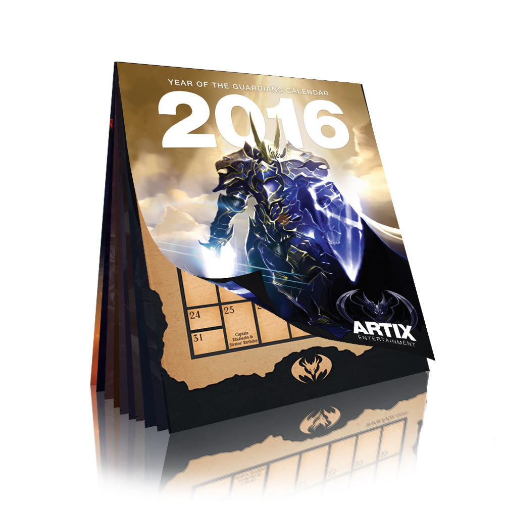 "2016 Calendar ""Year of the Guardians"""