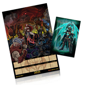 "Load image into Gallery viewer, Collector's Edition 2021 Artix Calendar ""ShadowScythe Poster"""