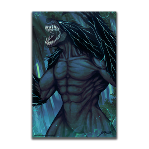 Load image into Gallery viewer, AdventureQuest Worlds Dorkon's Moon Cursed Stryche Beast Collector's Art Print