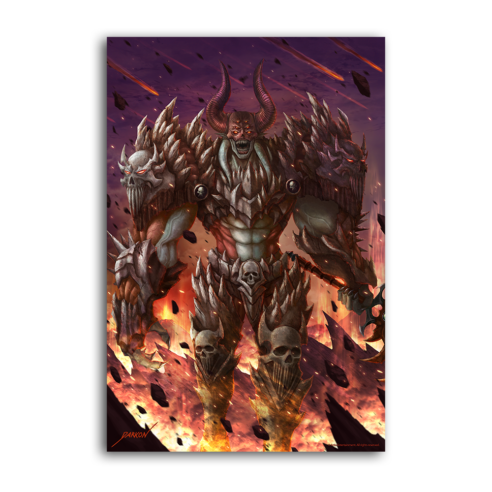 Darkon's Warpath to Apocalypse  - Collector's Print