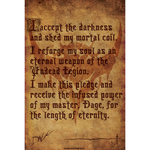 Legion Pledge Scroll Collector's Print
