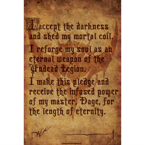 Legion Pledge Scroll - Collector's Print