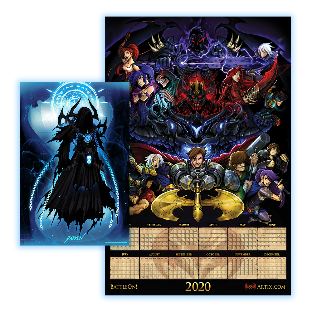 "Collector's Edition 2020 Artix Calendar ""Poster"""