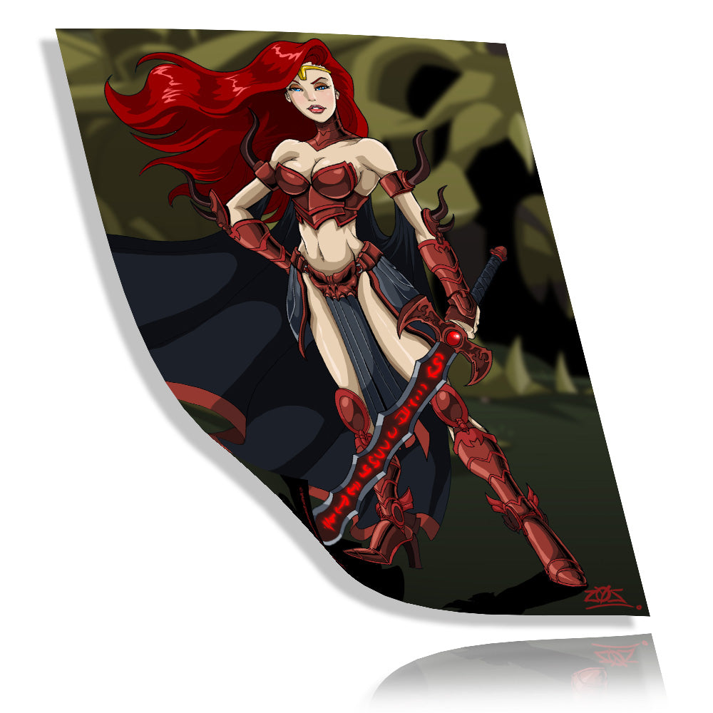 Unarmored Gravelyn - Collector's Print