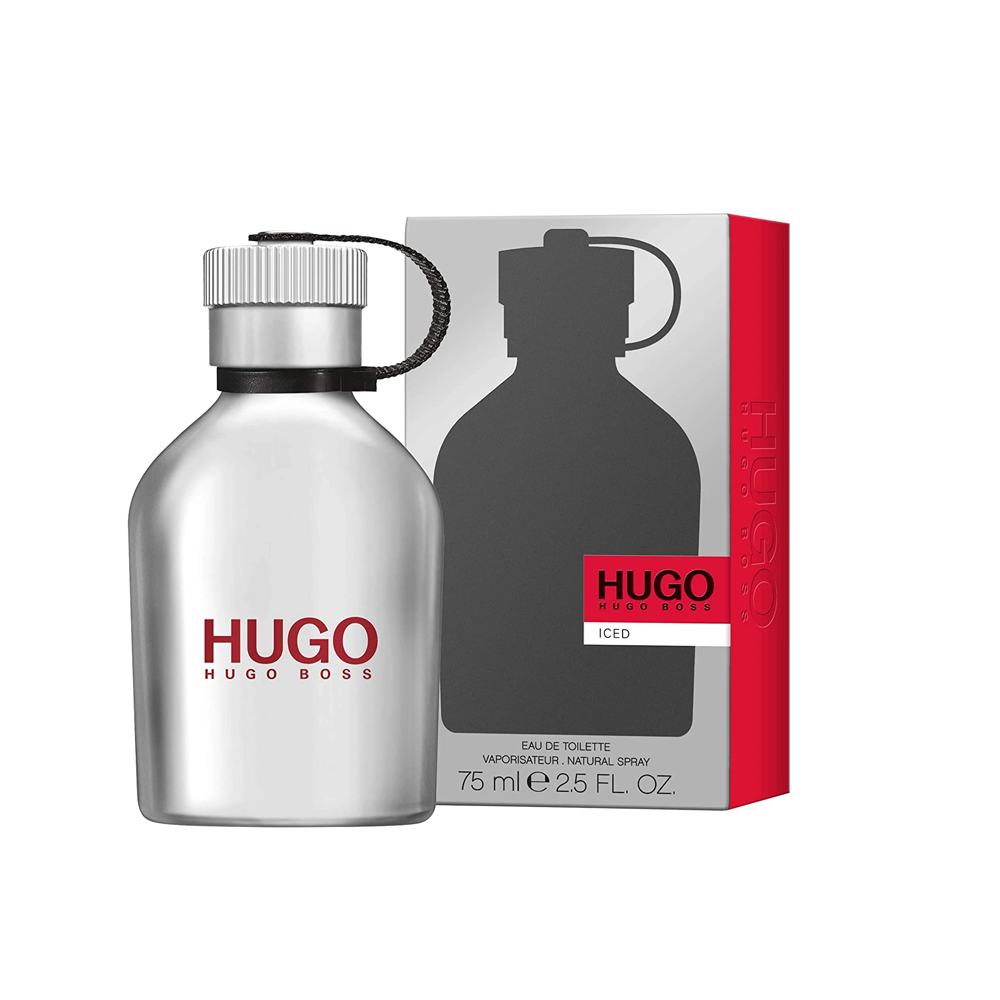 Hugo Iced Cologne for Men Eau De Toilette Spray 2.5