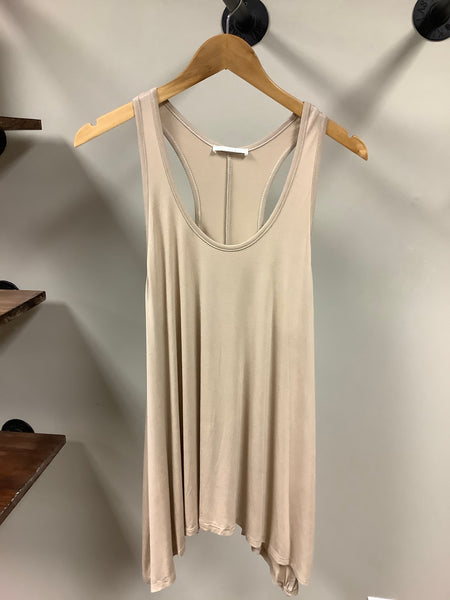 Taupe solid tunic