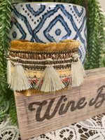 Tassels all around cuff