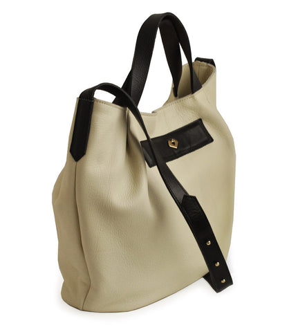 MARYLAI New York - (Belmont) Ivory Bone Bucket Bag