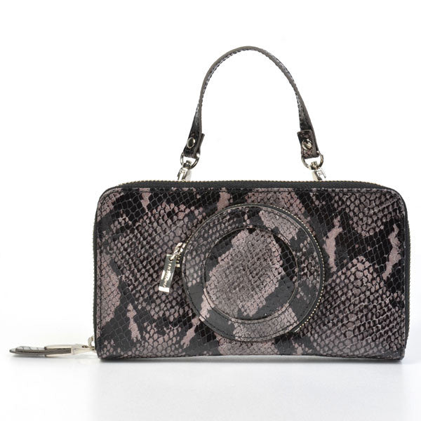 Homanz - Dark Grey Python Clutch