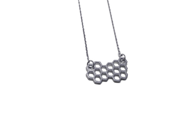Pursuits - Honey Comb Necklace ( Gun Metal )
