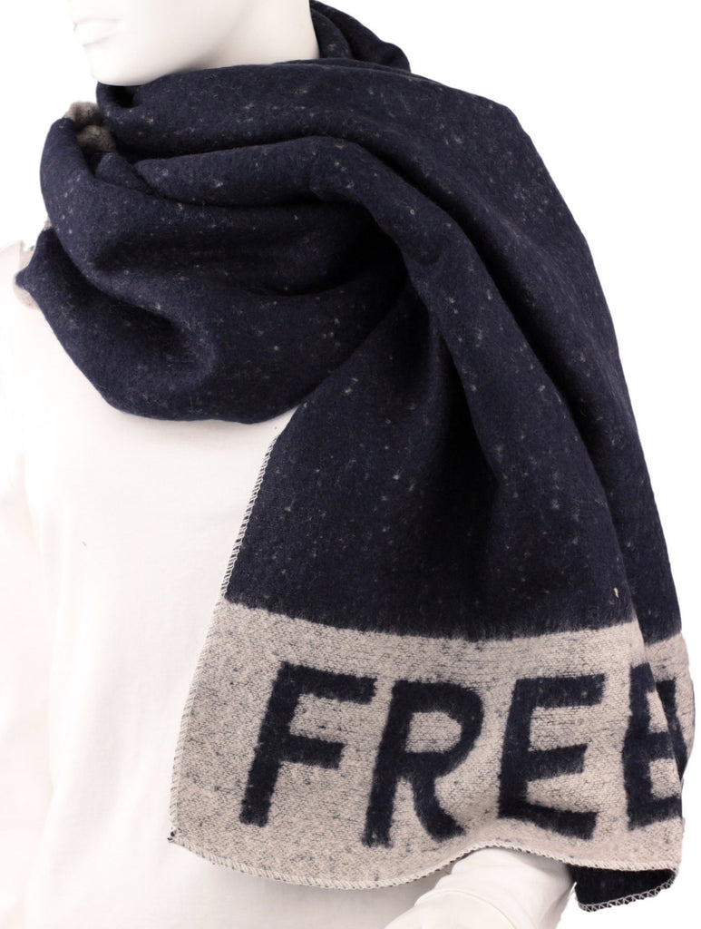 Freezing Blanket Scarf - Navy Blue