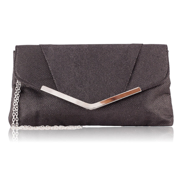 Jessica McClintock  Arielle Evening Clutch (Black)