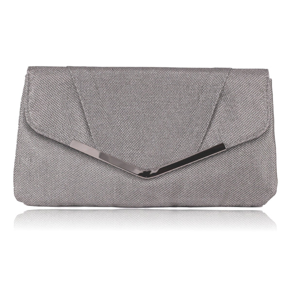 Jessica McClintock Arielle Evening Clutch (Silver)