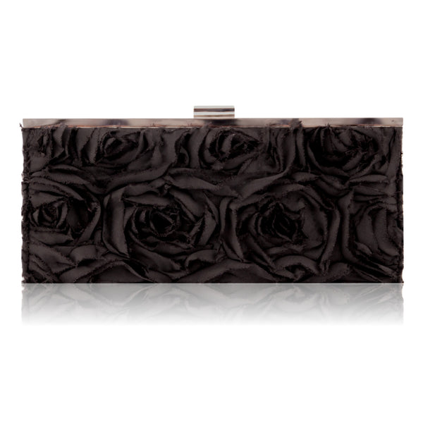 Jessica McClintock Women's Rose Evening clutch Bag (Black)