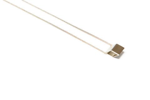 Pursuits Diamond Necklace ( Satin Gold )