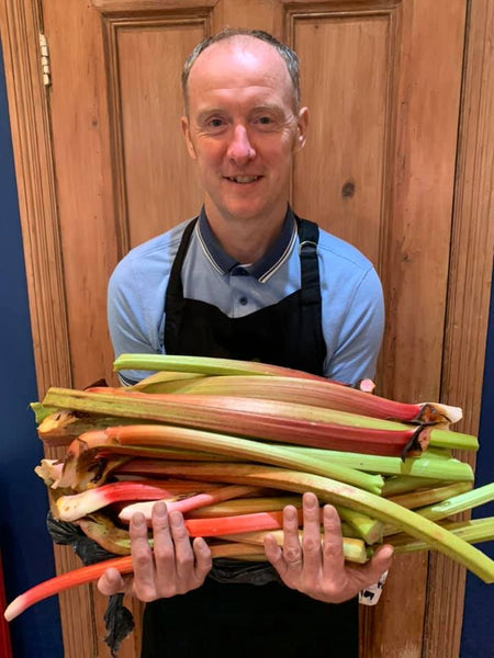 Rhubarb, who would have thought that this would make such tasty ice cream!