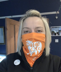 Snood - One Size   Orange with logo