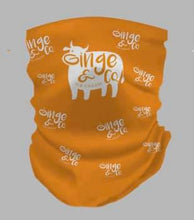 Load image into Gallery viewer, Snood - One Size   Orange with logo
