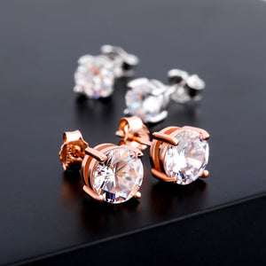 Iced Out 925 Sterling Silver Stud